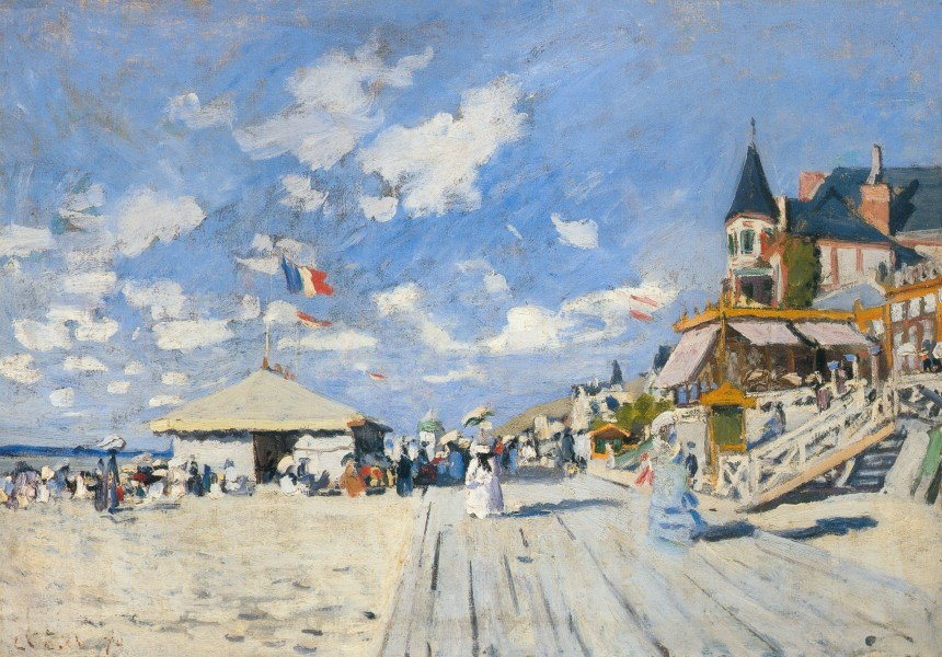 Sur les planches de Trouvilleoil on canvas50 x 70 cm